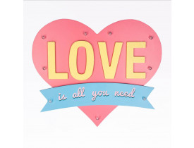 Coração Led Love is All you need