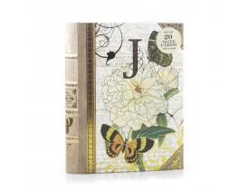 Caixa Livro J Capa com 20 Cartões e Envelope - Punch Studio
