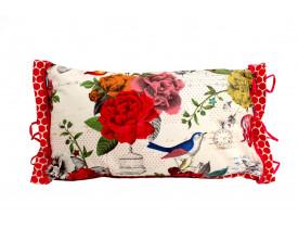 Almofada Retangular Flowers Vermelho/Branco - Pip Studio