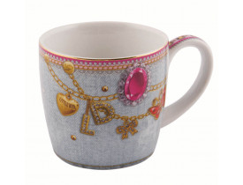Caneca Bejeweled 300ml - Little Diva