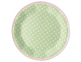 Prato Verde com Bolas Brancas