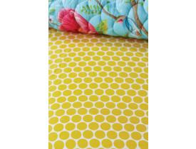 Lençol com Elástico Big Dots Amarelo Solteiro - Pip Studio