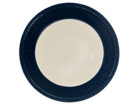 Prato de Sobremesa Alice Azul Escuro 23 cm - Greengate