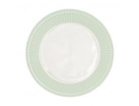 Prato de Sobremesa Alice Verde Claro 23 cm - Greengate