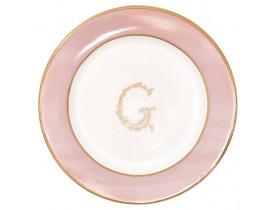 Prato de Pão G Rosa Claro 15 cm - Greengate
