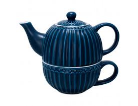 Chá para Um Azul Escuro