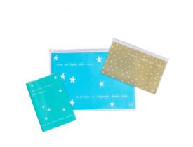Kit de documentos bebês - Fofo azul - Fricote